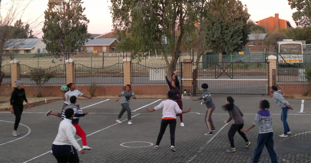 Residents playing netball - Bloemfontein